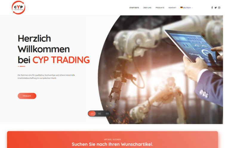 Webseite von CYP-Trading.de