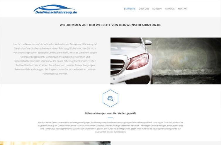 Webseite von DeinWunschFahrzeug.de